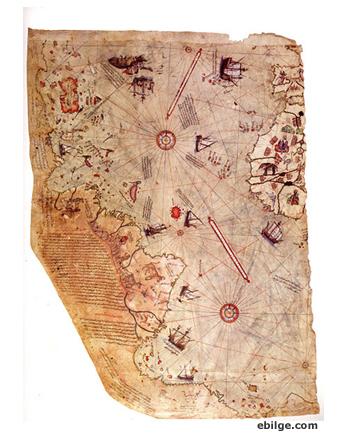 piri reis dünya hartası